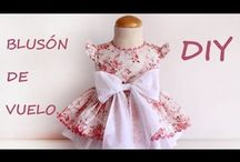 Como hacer una blusa de niña / Como hacer una blusa de niña con patrones de ropa infantil, moda española de radiante actualidad, diseños exclusivos, paso a paso en mi blog.