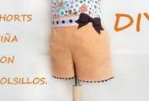 Como hacer pantalón de niña. / Como hacer un pantalón o peto de niña, aprende a coser y hacer tu misma la ropa para la pequeña de la casa.