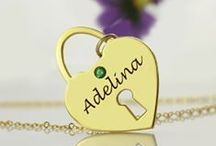 Birthstone jewellery / Name jewellery and necklaces with beautiful birthstones / gemstones