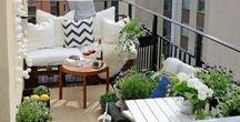 LIVING | Balcony | Workspace | Green Oasis / Where you find my inspiration to create workspace and chill area on your tiny balcony.