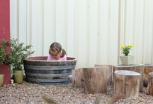 Playful Days in the Garden / I love the idea of making spaces for creative play, providing fodder for the imagination. Imagine a childhood full of memories of the games and adventures created!