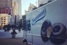 """Donut Day 2012 / For the 75th National Donut Day, Entenmann's unveiled  its largest box of donuts ever and donated $25,000 to the Salvation Army at an event in New York City.   For more information on the Salvation Army's history with donuts, read about their """"Doughnut Girls"""" during World War I: http://bit.ly/11gkSml"""
