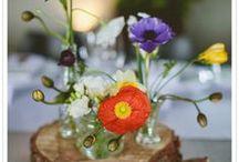 Hochzeit Wildblumen / Ideen für Hochzeitstorte/Candy Bar mit sommerlichen Blumen
