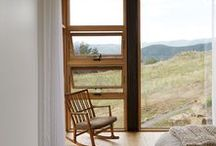 Home / Dreaming of building a home one day - images that inspire.  Minimalist, simple, spare, white, open spaces, inside/outside, connected with nature, wood, windows, fireplace, handwork, handmade decor, plants, peace, and love.