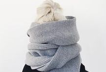 Scarves / Design Inspiration: Knit and woven scarves, shawls, wraps, cozy layers.
