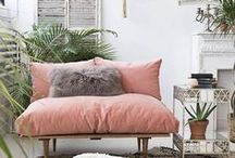Boho Home Style / Channel your inner bohemian and deck out your home with these trendy boho styles.