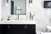 Bathroom Design / Browse photos of some of our favorite bathroom design ideas, from marble flooring to luxurious accent pieces.