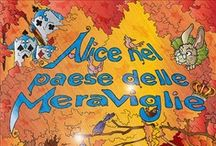 Alice nel Paese delle meraviglie - Alice in Wonderland / My interpretation of Alice in Wonderland. Fake cover and interiors with Illustrator and Photoshop. Alice nel paese delle Meraviglie secondo me.
