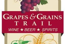 """Grapes & Grains Trail / Enjoy how relaxing life feels in Virginia's most """"spirited"""" region! Located in Fredericksburg, Stafford and Spotsylvania, the trail includes 5 wineries, 5 breweries and a distillery. Tickets are valid for a full year so you you can visit them as you choose, in a day or two – or one at a time! Tickets are just $15.00 plus tax and include VIP tours at all trail stops (subject to staff availability), commemorative tasting glass, and discounts in all gift shops at all trail stops."""