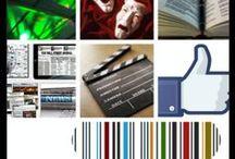 Estamos en ... / Redes sociales donde publican noticias de Canarias Cultura, Facebook, Escuela Canaria Literaria , Cine, Teatro, The Paper Club ...