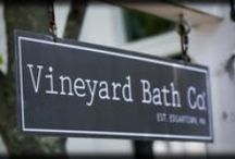 Visit Us on the Vineyard / Vineyard Bath Co. is a family owned and operated company. Our bath and beauty products reflect the honest and unspoiled character of Martha's VIneyard. They're made from high-quality ingredients. They're good value. And they're based in nature – free from parabens, petrochemicals and other harsh stuff. We welcome you to shop online, or visit us at our store in Edgartown, MA.