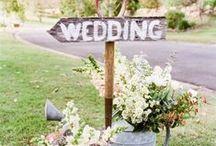 Mariage thème champêtre chic / Faire-part et décoration de mariage sur le thème champêtre chic.
