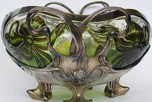 Art Nouveau Objects / Porcelain, metal, glass