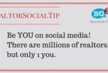 ~ Social Media Tips for Realtors / Real estate professionals are social by nature. Here's our list of ways they can leverage that on social media.