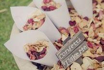 Confetti / Unusual ideas for confetti and confetti stations at weddings.