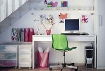 Deco | Bureaux blancs / white desk / #white #desk #home #office #work #workspace #bureau #blanc