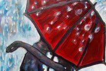 Toile de parapluie / by Josee Daigle