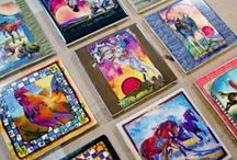 Beautiful Art Tiles / Hand craftet beautiful tiles for your home. Www.jennoliart.com.au