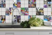 Cool Splashback Tiles / Create a very unique splashback by using custom printed tiles. We are unique in what we do and your splash back will be like a piece of art!