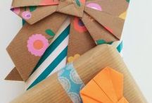 Gift wrapping / Gift wrapping - gift tags - DIY - craft - paper craft - inspiration