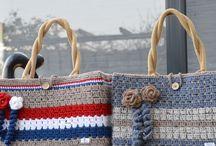 Jute Tassen omhaken -Crochet Bags