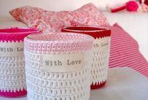 Haken om glazen potjes -Crochet glass jars