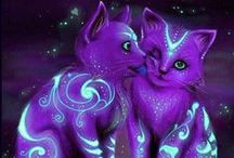 Cat Crazy and Purrfectly Purrple / A Whimsical Obsession