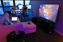 Gamer Life / Gamer Setups, Caves, CaseMods, Cool and Nerd Stuff.
