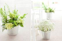 Hochzeit grün/creme