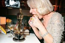 Golden Idols - The Aftermath / I love snapshots of winners after  Oscar night with their new accessory for life
