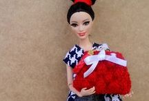 Miniature bags for Barbie-Fashion Royalty doll / One of kind dolls acessories by StudiocygDesign