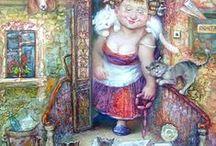 Одесская художница Виолетта  Базалий / Конечно же, Одесса Виолетты Базалий - это не совсем та Одесса, которую мы видим каждый день. Но в ней тоже хочется жить