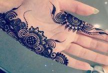Henna and Mehndi.