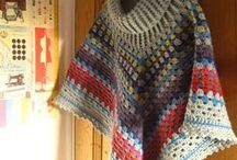 Croché e tricot - Xaile / Poncho / Golas