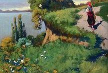 Neogrády László (1896-1962) / Magyar naturalista tájkép- és portréfestő. Képeinek különleges atmoszféráját drámai fénymegoldásokkal teremti meg. Neogrády Antal festő fia.
