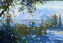 Laurent Parcel (Laurent Parcelier) / Kortárs impresszionista francia festő és illusztrátor. Született: 1962, Chamaliéres