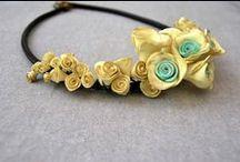 Vasiliki Handcrafts - Handmade Flower Necklaces, Polymer Clay, Jewelry / Handmade,Flower Necklaces, Polymer Clay, Gift, Pendant, Mint, Lavender, Translucent, Vanilla, Tulip, Raspberry, Red
