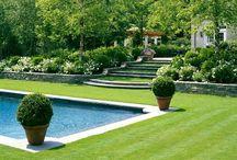 { poolside } / swimming pool design. gardens