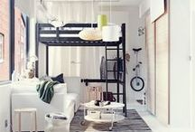 Small Interiors / Lots of city dwellers struggle to make do with their tiny living spaces. This board is for inspiration on how to make the most of your tiny apartment!