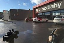 V-PODLAHY - Korporatni film - Firemni promo - Brand video - Corporate movie / Smartphone snapshots of shooting corporate film for Czech flooring giant company V-PODLAHY.