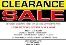 Aztec Lighting Warehouse Red Tag Sale! / To all of your local customers...you won't want to miss this  sale!  May 4th-May 22nd