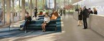 Nouveaux espaces de travail / A quoi ressembleront les bureaux de demain ? Nous explorons la réinvention du rapport au travail et la recherche de bien-être dans les espaces professionnels à l'heure du co-working et de la mobilité. Nous sommes convaincus que le bureau de demain sera ouvert sur la ville, flexible, adapté aux nouveaux usages et vecteur de l'image de l'entreprise.