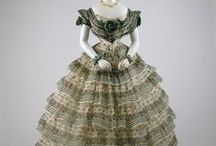Historical fashion  1851-1860  Crinoline