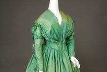 Historical fashion 1840-1850 Biedermeier