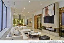 Modern Living Spaces / Modern up-to-date spaces in the home. Classy interior decor ideas.