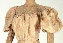 Historical fashion 1890-1900 Fin de siecle