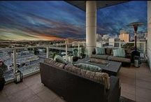 222 Broadway #1501, Oakland PENTHOUSE / The Ellington, Jack London District's only luxury high-rise, features concierge services, a swimming pool with lounge deck & spa and a fitness center with Paramount equipment.  ~Patio with gel burning fire pit and heat lamp ~Master suite w/ private balcony & three custom built-out closets ~Master bathroom w/ separate shower & tub, Moen fixtures, dual vanities & enclosed powder room ~Lofted gallery with separate entrance ~Custom paint and wallpaper throughout ~Remote controlled window coverings