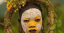 Rostros tribales pintados