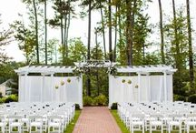I Do / Jasmine Court at Brier Creek Country Club in Raleigh, NC is the perfect location for an outdoor wedding ceremony which can host up to 260 guests.  This outdoor location is beautiful anytime of the year.