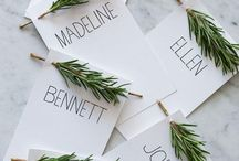 Place Cards & Table Numbers / Personalize your place cards and table numbers to coordinate with your wedding theme.  DIY brides, this is your time to shine.